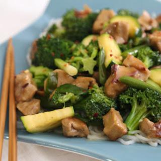 Triple Jade Stir-Fry with Tofu or Seitan.