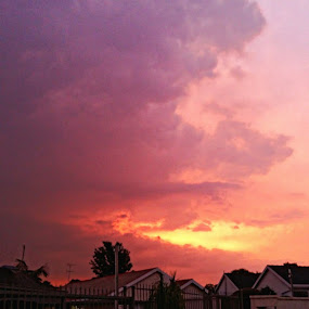 Cellphone photos of an amazing sunset while taking a walk last night by Ursula Herbst - Uncategorized All Uncategorized