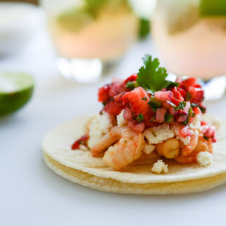 Chipotle Lime Shrimp Tacos with Strawberry Salsa