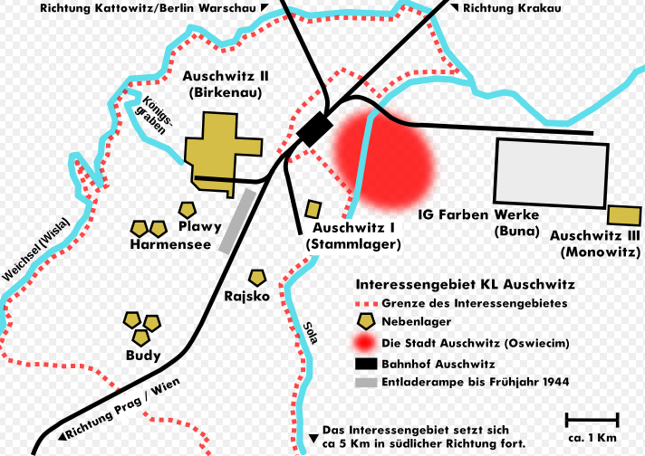 Grafik: Übersicht zum KZ Auschwitz.