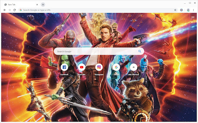 New Tab - Guardians of the Galaxy