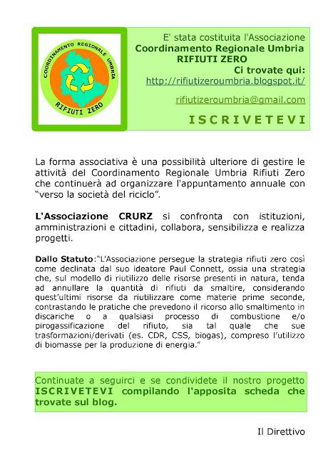 CRURZ: C.S. Nasce l'Associazione CRURZ