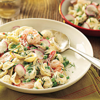 Orecchiette with Peas, Shrimp, and Buttermilk-Herb Dressing