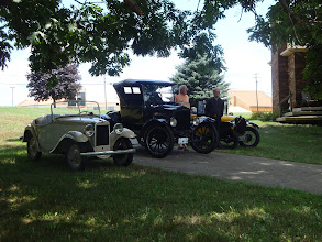 Photo: American Austin, Model T and an Austin 7 special pretending to be a Chummy