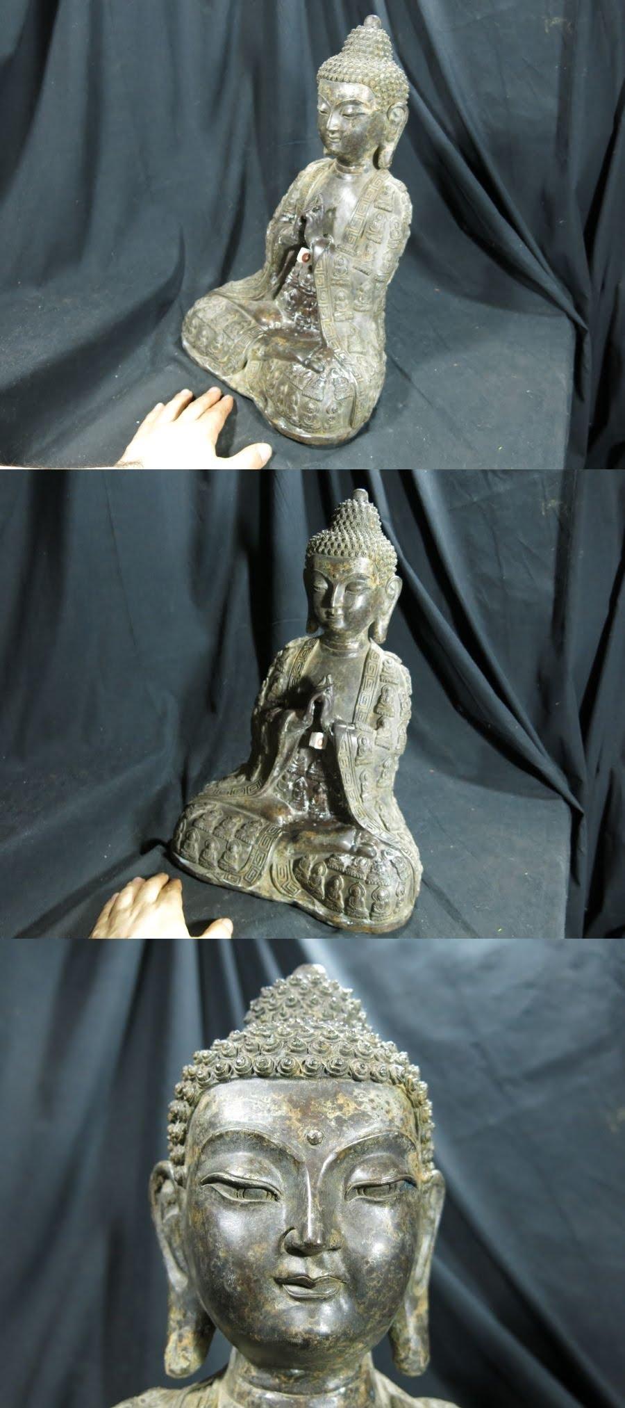 A 老銅化仏付き如来坐像 金工 仏教 仏像