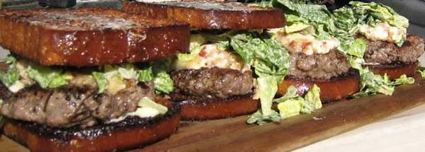 Bacon Brie Burgers With Caesar On Brioche Recipe