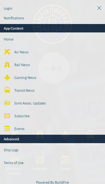 Transport Workers Union- screenshot