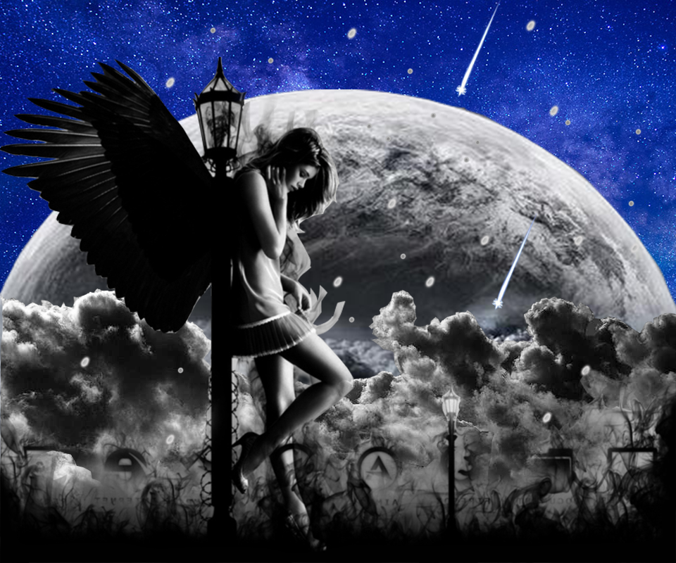 dark angel live wallpaper android apps on google play