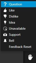React menu options in 3CX WebMeeting.