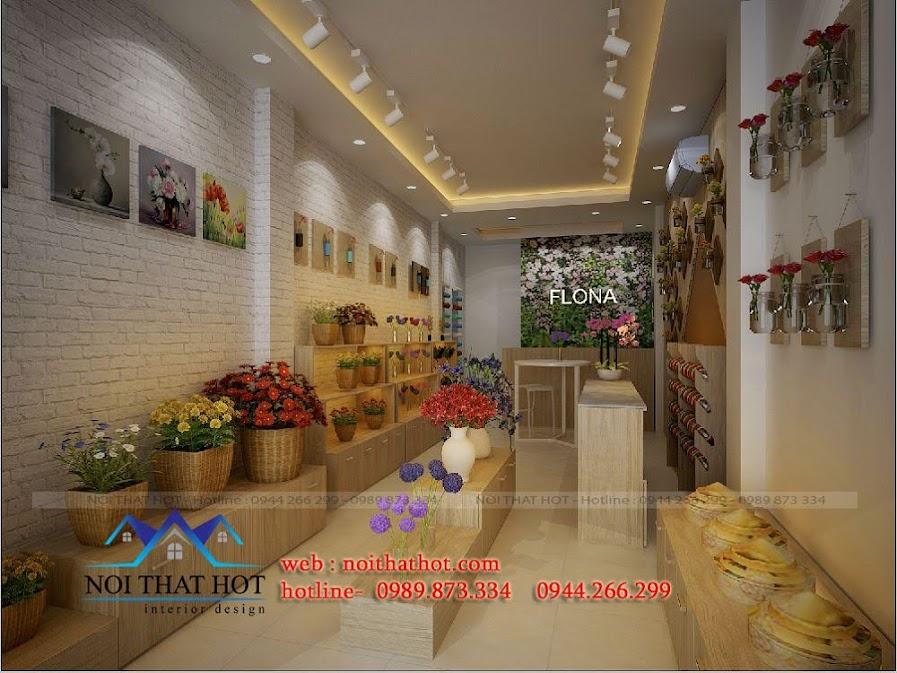 thiết kế cửa hàng hoa tươi