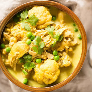 Slow Cooker Chicken Cauliflower Curry.