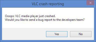 "[Solved] How to Fix VLC Crash Reporting Error ""media player just crashed."" MKV Files"