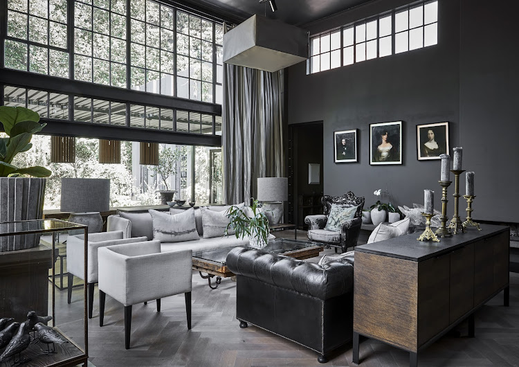 In Pictures Black Walls Give This Arty Joburg Home A Muted Glamour