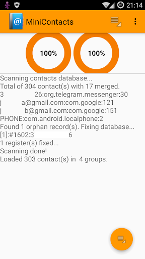 Scan Contacts Manager CSV