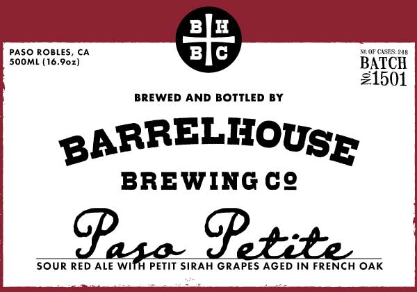 Logo of BarrelHouse Paso Petite / Red Sour with Petite Sirah Grapes / No. 1501
