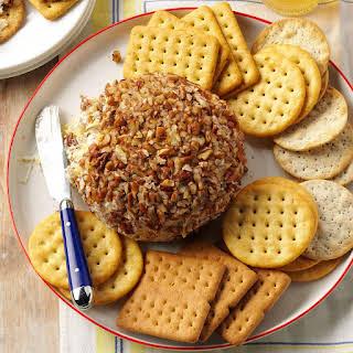Sweet & Savory Pineapple Cheese Ball.