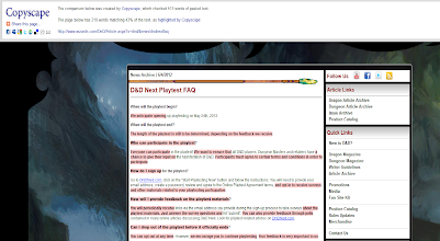 Photo: Here is comparing DPP's online playtesting guide to WotC's