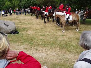 Photo: Opvisningen var en rævejagt / The show was organised as a hunt.