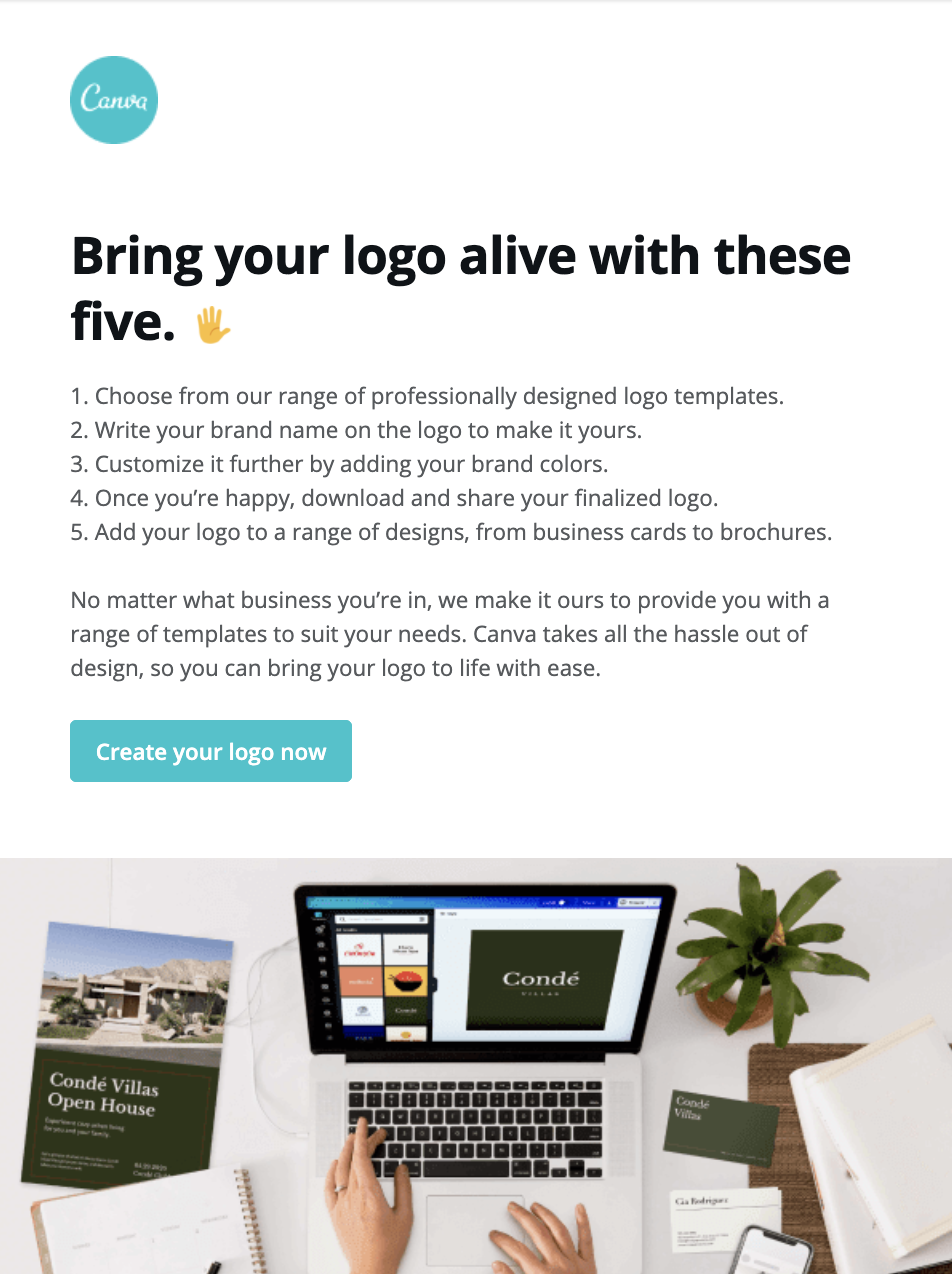 Useful tips by Canva to their subscribers
