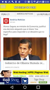 Noticias de PERU Peruanas News- screenshot thumbnail