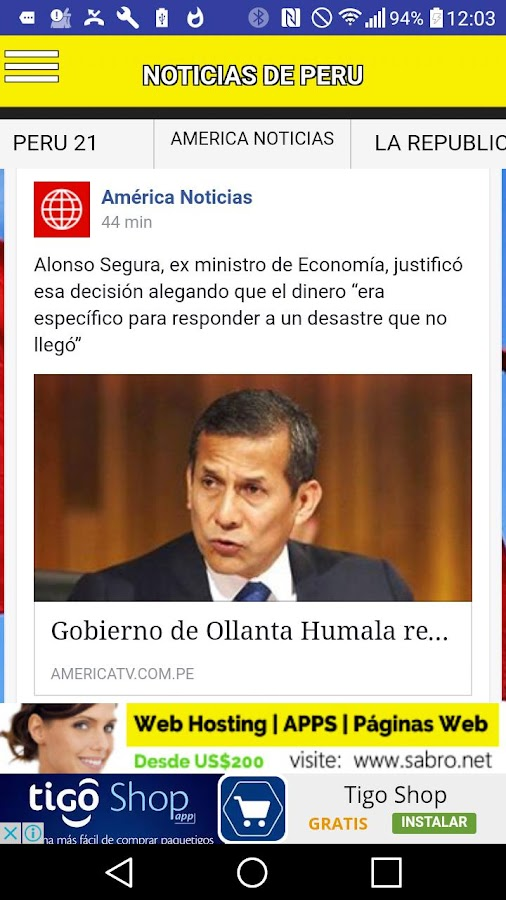 Noticias de PERU Peruanas News- screenshot