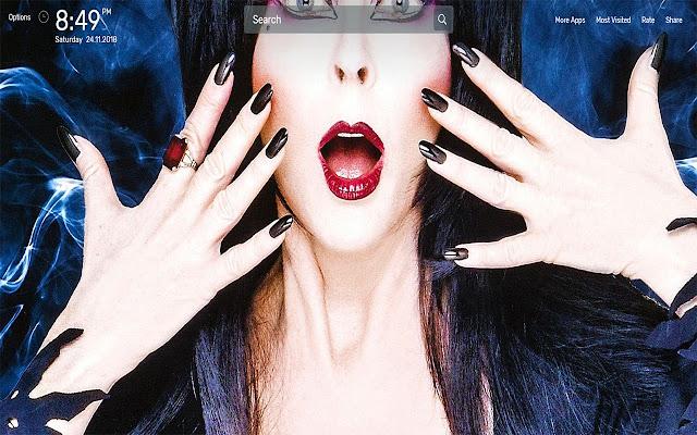 Elvira Wallpapers NewTab Theme