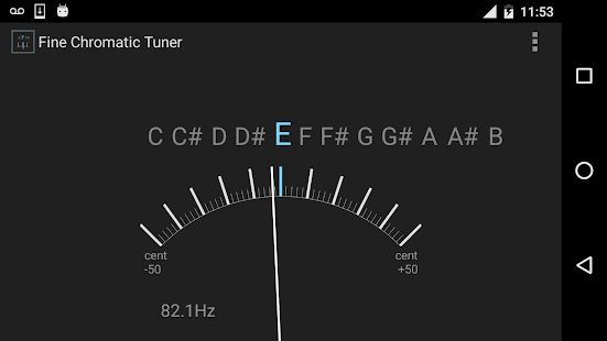 Fine Chromatic Tuner Screenshot