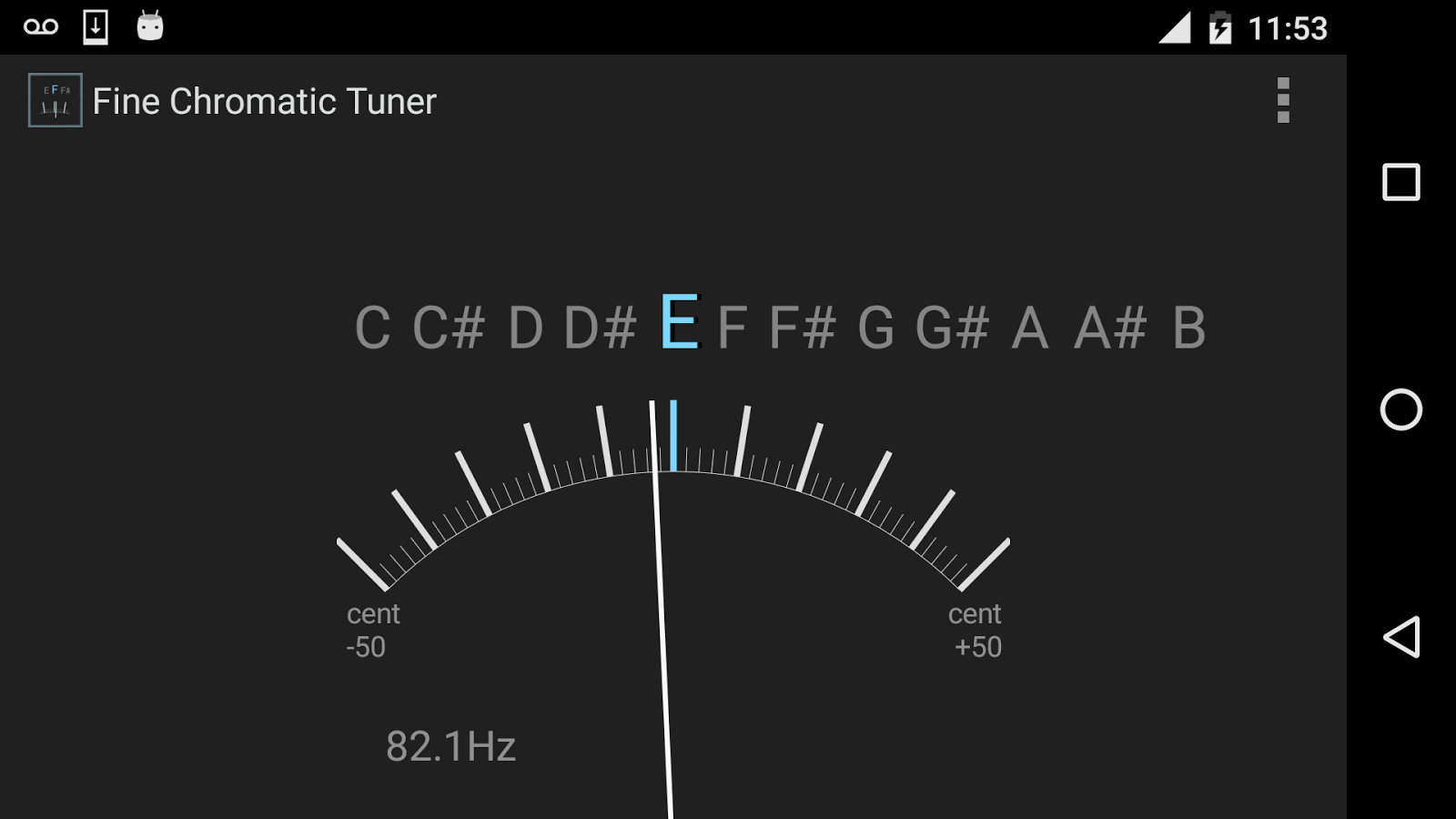 Fine Chromatic Tuner- screenshot