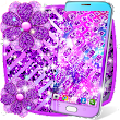 Purple glitter live wallpaper
