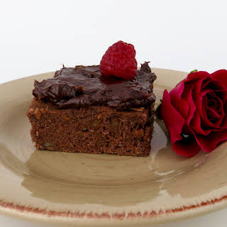 Dark Chocolate Raspberry Rose Brownies, for Adults Only.