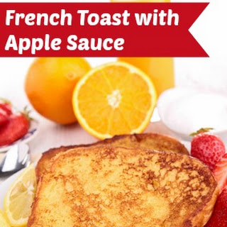 French Toast with Apple Sauce.