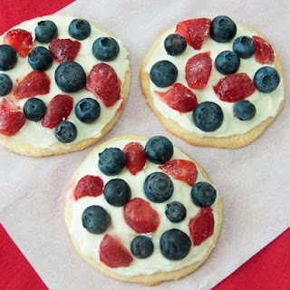Red, White & Blue Mini Fruit Pizzas