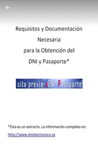 DNI/Pasaporte: Requisitos y Obtenciu00f3n de Cita screenshots 1
