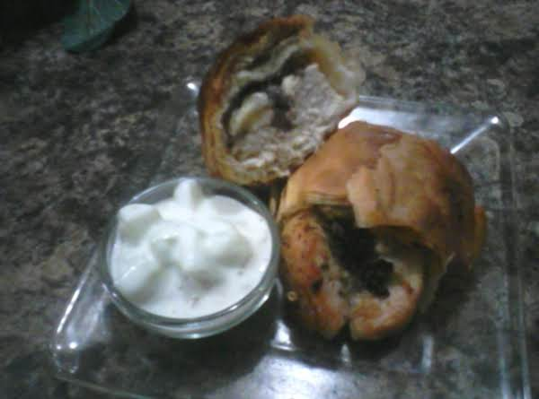 Greek Chicken In A Phyllo Wrap With  Tzatziki Sauce