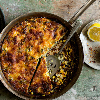 Savory Clafoutis With Corn and Swiss Chard