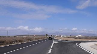 Aspecto que presenta una de las carreteras ya acondicionadas.