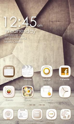 White Stone GO Launcher Theme v1.0 screenshots 2