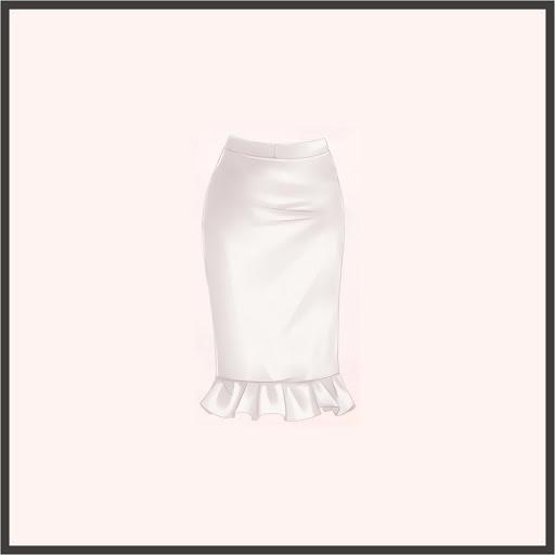 マーメイドスカート(白)