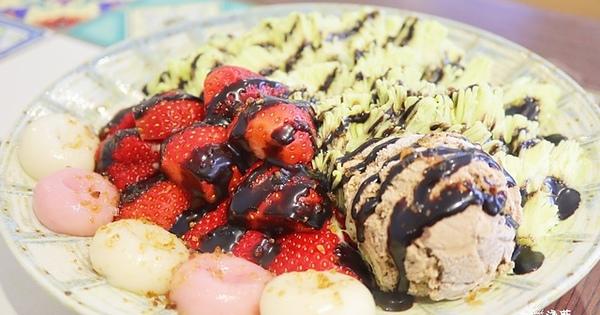 淺藍  × 心地日常台北店~季節限定又限量的草莓摩卡抹茶雪花冰