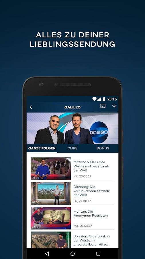 prosieben kostenloses live tv und mediathek android apps auf google play. Black Bedroom Furniture Sets. Home Design Ideas