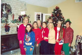 Photo: Rita (Leeper) Sholund, Nancy (Seiler) McCarthy, Linda (Wilson) Mitchell, Rosemary (Worthy) Doolery, Barbara (Novosad) Stueve, Kathi (Hesson) Curtis, Suzy (Wright) Thomas, Carolyn (McGill) Hoelscher, Carol (Craven) Barnes