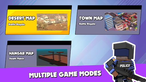 PIXEL ROYALE™ GUN 3D MOBILE UNKNOWN BATTLE GROUND APK MOD (Astuce) screenshots 2