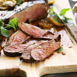 Butterflied Lamb Leg with Lemon and Herbs.