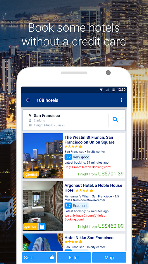 Screenshots of Booking.com for Android