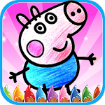 Easy Coloring Book Peppi Pig Icon