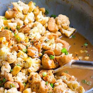 Teriyaki Chicken and Cauliflower Skillet