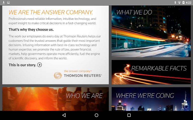 android Thomson Reuters Our Story Screenshot 9