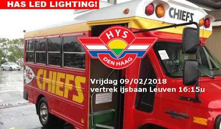 Den Haag HYS - Chiefs Leuven: vrijdag 09/02/2018