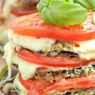 Baked Eggplant Caprese Stacks