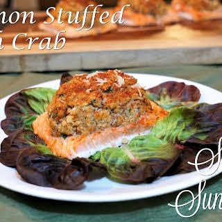Salmon Stuffed with Crab.
